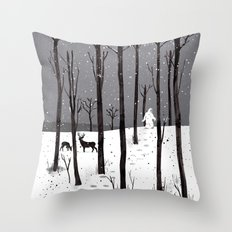 Mister Yeti's Great Escape Throw Pillow