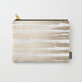 White Gold Sands Painted Stripes Carry-All Pouch