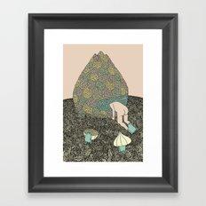 Onion Feed Framed Art Print