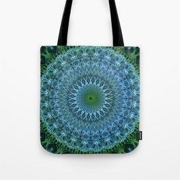 Blue and green mandala Tote Bag