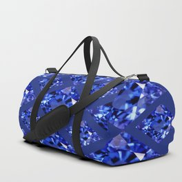 FACETED BLUE ON BLUE SAPPHIRE GEMSTONES Duffle Bag