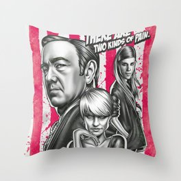 Two Kinds Of Pain - House Of Cards Throw Pillow