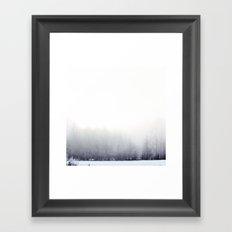 Foggy winter day Framed Art Print