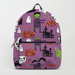Cute Frankenstein and friends purple #halloween Backpack