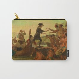 1857 Rhode Island Classical Masterpiece 'The Landing of Roger Williams' by Alonzo Chappel Carry-All Pouch