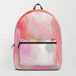 Blush | Abstract Painting Backpack