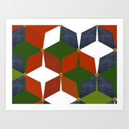 KALEIDOSCOPE 08 #HARLEQUIN Art Print