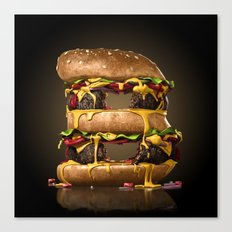 B for Burger Canvas Print