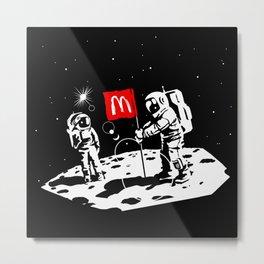 First we take Manhattan, Then we take Moon Metal Print