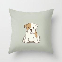 English Bulldog Illustration Throw Pillow