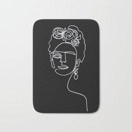 Frida Kahlo BW Bath Mat