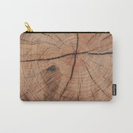 Tree Rings Rustic Cabin Lodge Raw Wood Carry-All Pouch