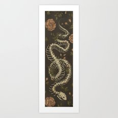 Snake Skeleton Art Print