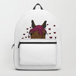 lucky horse mom Riding Horses Mother Present Gift Backpack