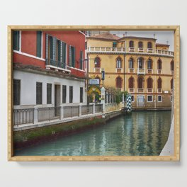 Glimpse of a Venetian Canal Serving Tray