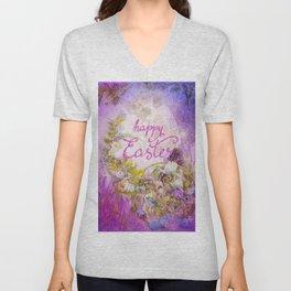 Purple Easter Unisex V-Neck