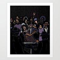 allyson johnson Art Prints featuring Robert Johnson by C.R.ILLUSTRATION