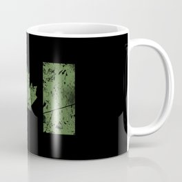 Canadian Distressed Flag (Green) Coffee Mug