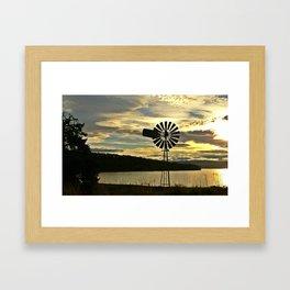 Windmill at Great Bay Framed Art Print