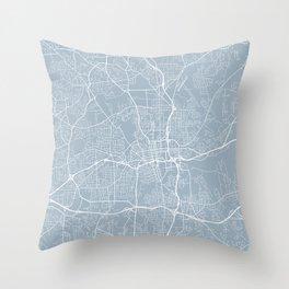 Winston-Salem Map, USA - Slate Throw Pillow