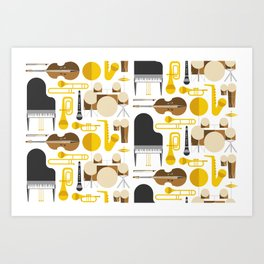 Jazz instruments Art Print