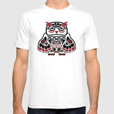 Owl, North-American art stylization White Mens Fitted Tee SMALL