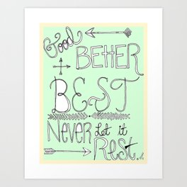 Mint Motivation  Art Print