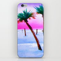 volleyball iPhone & iPod Skins featuring Beach Volleyball Sunset by sky愛