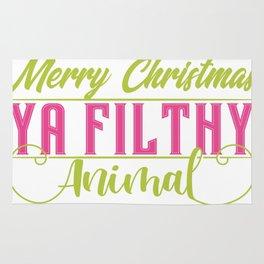 Ya Filthy Animal Merry Christmas Rug