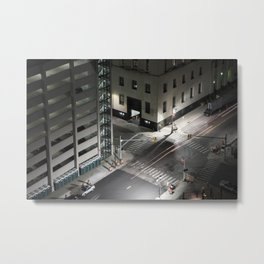 Shelby-Lafayette Intersection From Above Metal Print