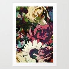 Daisy among Roses Art Print