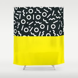 Memphis pattern 51 Shower Curtain