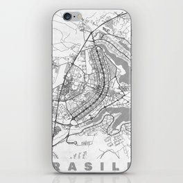 Brasilia Map Line iPhone Skin