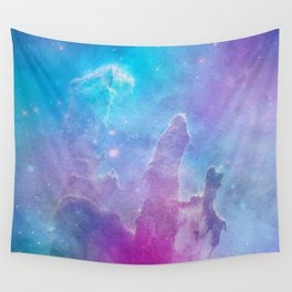 Colorful Deep Space Pillars Of Creation Wall Tapestry