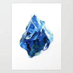 Raw Sapphire Art Print