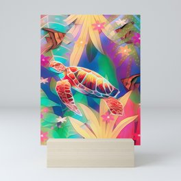 Sea Turtle Fantasy Scene #2 Mini Art Print