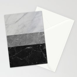 Marble - White, Grey, Black Stationery Cards