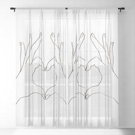 Love Heart Sheer Curtain
