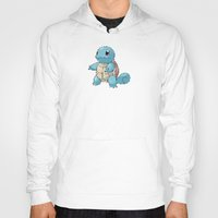 squirtle Hoodies featuring PIXELATED SQUIRTLE by DrakenStuff+