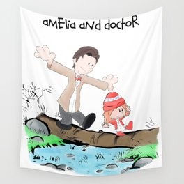 Amelia and the doctor Wall Tapestry