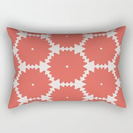 Red Stars of Christmas Pattern Geometric Abstract Rectangular Pillow