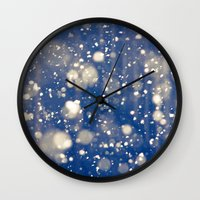snow Wall Clocks featuring Snow by Loaded Light Photography