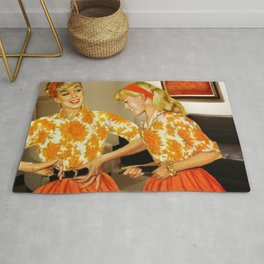 Daughter and Her Narcissistic Mother Rug