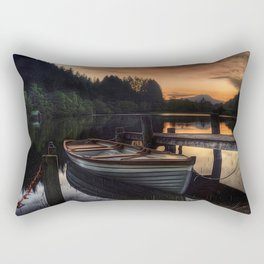 Golden Sunset over Loch Ard Rectangular Pillow