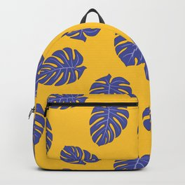 Monstera trendy - yellow purple Backpack