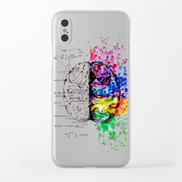 Conjoined Dichotomy Clear iPhone Case