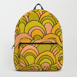 surfboard quiver 70s wallpaper dreams Backpack