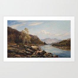 Alfred de Bréanski - Borrowdale (1870s) Art Print