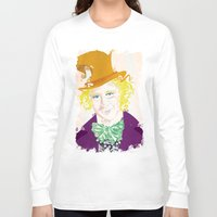 willy wonka Long Sleeve T-shirts featuring Wilder Wonka by Joshua A. Biron