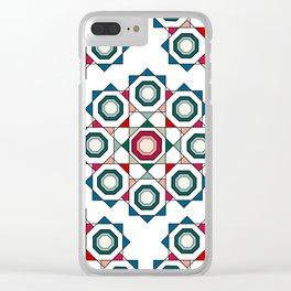Tile mandala Clear iPhone Case
